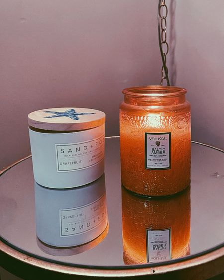 This candle smells so amazing and I love the color it projects from the glass 😍 http://liketk.it/35WAk #liketkit @liketoknow.it #LTKunder50 #LTKunder100 #LTKhome