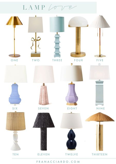 On the blog today I'm shared 12 table lamps I love!   #LTKhome