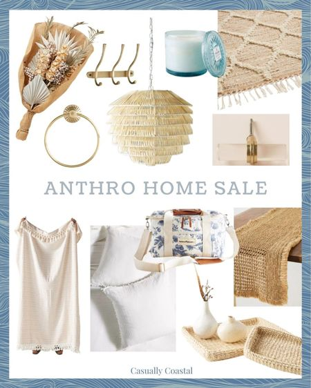 Some of my favorite Anthropologie Home finds that are currently on sale! Inventory for sale items is typically low, so don't delay too long in purchasing! - home decor, decor under 50, home decor under $50, fall decor, fall decorations, fall home decorations, coastal decor, beach house decor, beach decor, beach style, coastal home, coastal home decor, coastal decorating, coastal interiors, coastal house decor, home accessories decor, coastal accessories, beach style, blue and white home, blue and white decor, neutral home decor, neutral home, natural home decor, brass hardware, drawer pulls, acrylic drawer pulls, girls bedding, throw for girls bedroom, dried florals, , woven runner, candles, brass towel ring, brass hooks, fall table runner, woven vanity trays, white euro shams, white shams, business & pleasure cooler, cooler bag, anthro home, anthropologie home, textured decor  #LTKsalealert #LTKhome #LTKunder100
