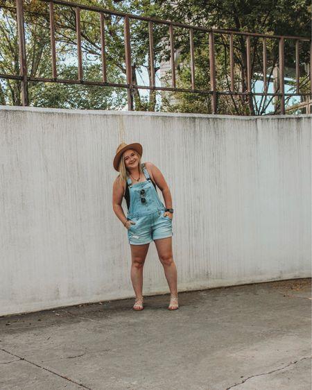 Short overalls, overall shorts outfit, shein bodysuit, shein basics, summer finds, Steve Madden look alike, studded sandals, amazon finds, Walmart finds, old navy women's.   http://liketk.it/3j4Ai #liketkit #LTKstyletip #LTKunder50 @liketoknow.it #LTKshoecrush