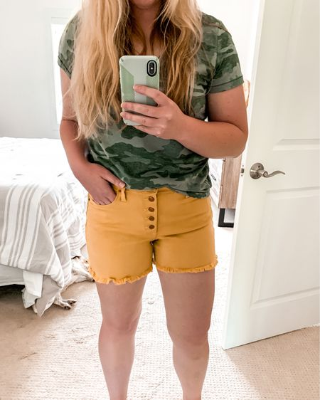 In LOVE with these $15 shorts!😍 perfect amount of stretch and coverage - I recommend sizing down 1 size. http://liketk.it/2Sk1j #liketkit @liketoknow.it #LTKsalealert #LTKstyletip #LTKunder50
