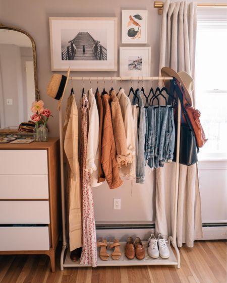 Garment rack master bedroom http://liketk.it/2N9Qo #liketkit @liketoknow.it #StayHomeWithLTK #LTKhome