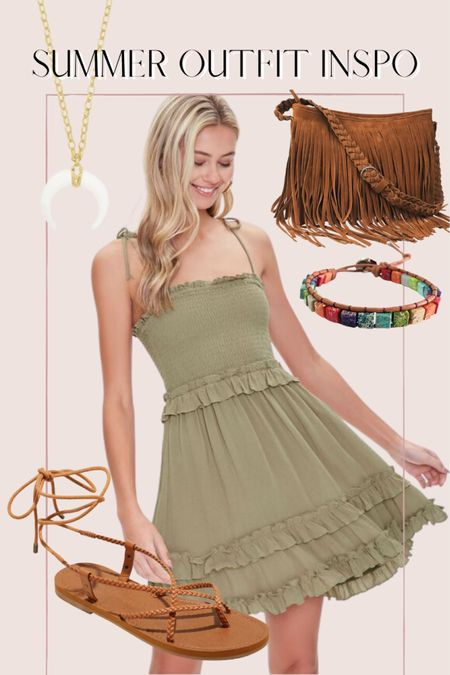 Summer outfit inspo, fringe bag, boho outfit, forever 21, Amazon finds http://liketk.it/3ihkX @liketoknow.it #liketkit #LTKunder50 #LTKunder100