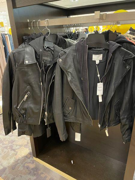 One of these Moto jackets is $200 and one is under $60 Dupe. Save vs splurge. Fall jacket   #LTKstyletip #LTKSeasonal #LTKsalealert
