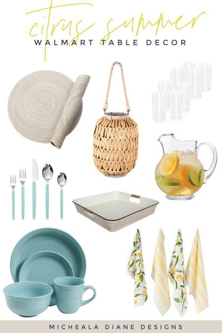 Citrus Summer Table setting. Walmart summer table finds. 🍋 http://liketk.it/3iAn6 #liketkit @liketoknow.it #LTKhome @liketoknow.it.home #LTKunder50