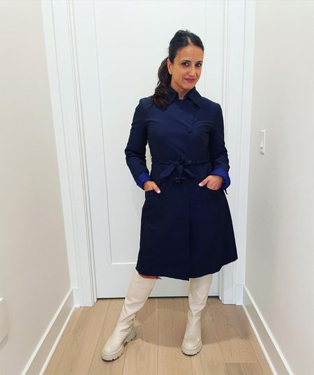 Fall is coming! A trench coat and rain boots are essential  #LTKunder100 #LTKstyletip #LTKSeasonal