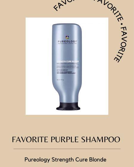 Favorite purple shampoo // pureology strength cure blonde http://liketk.it/3hpqp #liketkit @liketoknow.it #LTKsalealert #LTKunder100 #LTKDay