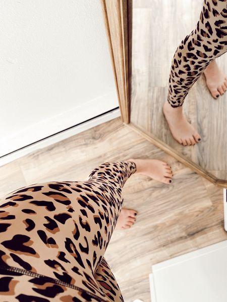 Animal print leggings for the win!   #LTKfit #LTKcurves #LTKstyletip