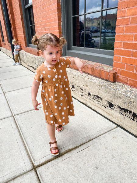 Toddler dress and sandals    http://liketk.it/3ddJF #liketkit @liketoknow.it #LTKkids #LTKfamily #LTKbaby #walmart #toddlerfashion #boho #kohls #toddlerdress