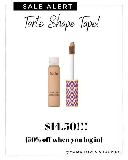 50% off Tarte shape tape today only!! I use shade light medium or light neutral.  #LTKbeauty #LTKunder50 #LTKsalealert