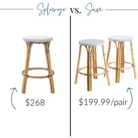 http://liketk.it/3jN9w #liketkit @liketoknow.it @liketoknow.it.home #LTKhome #LTKsalealert #LTKunder100 Riviera stools, looks for less, designer dupe