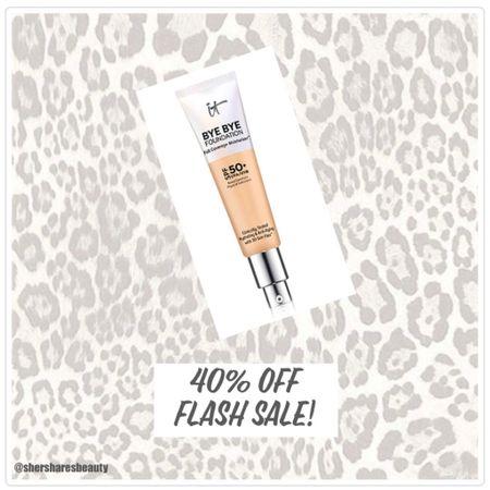 It Cosmetics Bye Bye Foundation 40% off flash sale!   http://liketk.it/3jDeH #liketkit @liketoknow.it #LTKsalealert #LTKbeauty @liketoknow.it.home Shop your screenshot of this pic with the LIKEtoKNOW.it shopping app