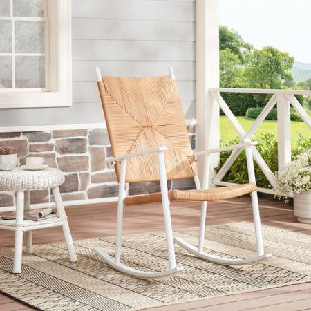 #WalmartFinds: Love the look of this rocking chair.  #LTKSeasonal #LTKhome #LTKunder100