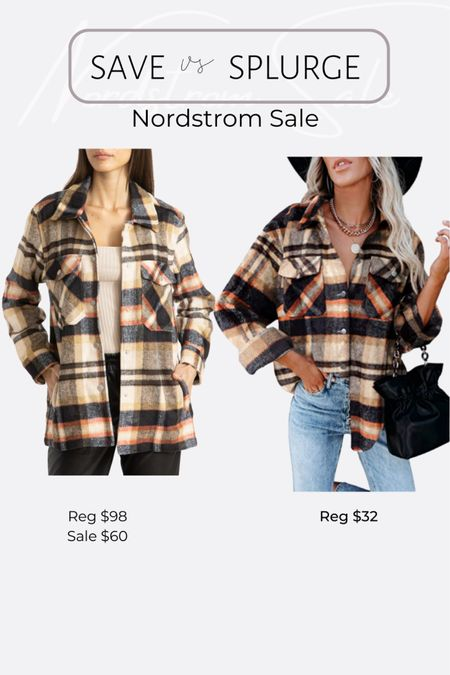 Nordstrom NSale favorite picks and dupes oversized plaid shirt jacket shacket http://liketk.it/3jRLN #liketkit @liketoknow.it #LTKsalealert #LTKunder50 #LTKunder100