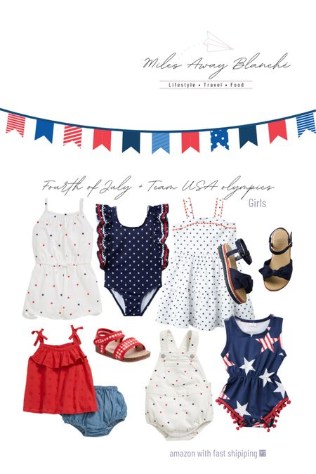 girls Fourth of July outfits and/ or outfits to cheer on team USA in the Olympics! These finds are Amazon, old navy, & Janie and Jack http://liketk.it/3iJVc #liketkit @liketoknow.it #LTKbaby #LTKkids #LTKunder50