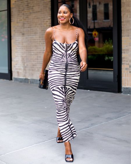 What do y'all think of Zebra print? Yay or nay? I've linked this dress and a few more zebra print favorites in the Shop My Instagram Tab after clicking the link in my bio.  See this outfit in motion in my newest video where I'm taking you with me for July 4th Weekend in New York City. We are: ✔️ brunching in Harlem ✔️ Dining in Brooklyn ✔️ Partying in the city ✔️ & Doing a @boohoo summer haul (Use code: MAGIC for 55% off)  Watch on my channel (link in bio). Oh I'm also linking a few of my favorite @gucci bags too. Head to the Shop My Instagram Tab in my bio or here: http://liketk.it/3jHrs on my @liketoknow.it account for links.  Happy Wednesday loves xo  #liketkit