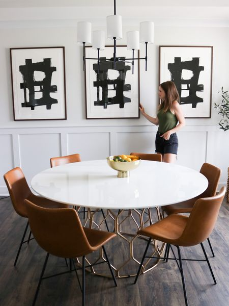 """It's been a few months in the making, but our dining room refresh is almost complete! I love that this space feels so much more like """"us"""" than our last - it's more casual and modern. So happy with how it has come together! // Details:   #LTKhome"""