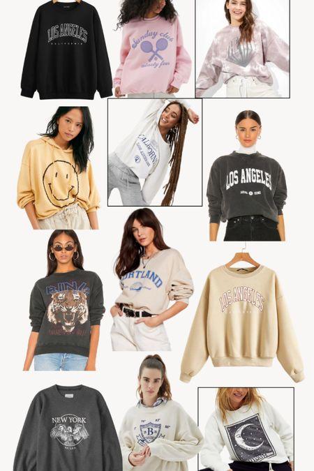 Favorite graphic sweatshirts • http://liketk.it/392d3 @liketoknow.it #liketkit Danielle Gervino