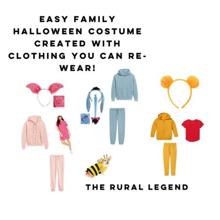 """Halloween costumes don't have to be """"one wear and done!""""  All of these items can be reworn all season long!   Halloween costume, family costume, Winnie the Pooh, old navy, target  #LTKHoliday #LTKstyletip #LTKfamily"""