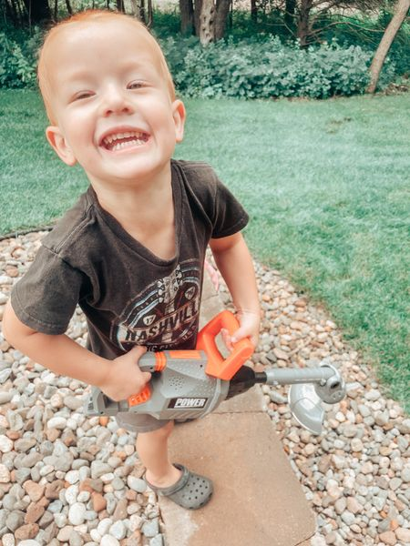 One of the best Amazon purchases I've made all summer! For the boy who loves power tools, this weed whacker is the best!   #LTKunder50 #LTKkids