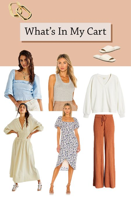 What's in my cart this week!! 🛒 Some picks from #nordstromsale #freepeople and #revolve 🛍🛍   Shop your screenshot of this pic with the LIKEtoKNOW.it shopping app   #LTKstyletip #LTKshoecrush http://liketk.it/3ilgF #liketkit @liketoknow.it