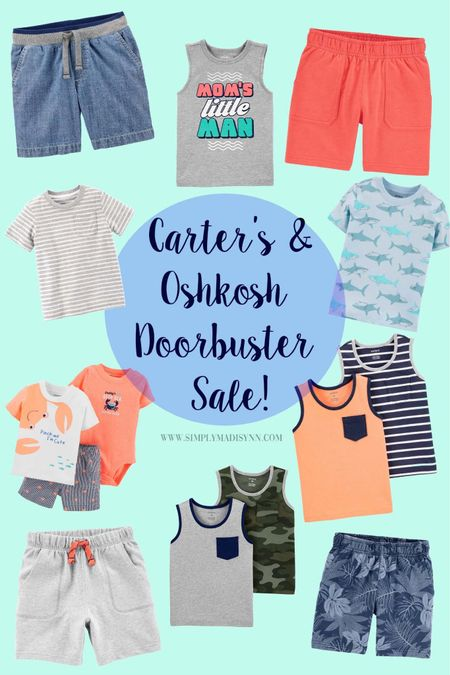 One thing I've come to realize as a new mama is that babies grow FAST👏🏼 Carter's & Oshkosh has made our lives as parents easier by giving us all the sales😍 I went ahead and rounded up some of my favorite boy items from the sale, so check it out😌 I'll be sure to round up some more baby clothing sales and add it to the blog too💕 happy shopping mamas😍👏🏼 •  http://liketk.it/2PfYi @liketoknow.it #liketkit #StayHomeWithLTK #LTKbaby #LTKsalealert #LTKunder100 #LTKunder50 #CartersSale #OshkoshSale #BabySale #BabysFirstSummer #SummerClothes