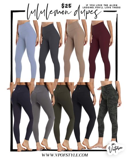Lululemon align legging dupes for $25 in all the colors! http://liketk.it/34V8H #liketkit @liketoknow.it #LTKunder50 #LTKNewYear #LTKfit