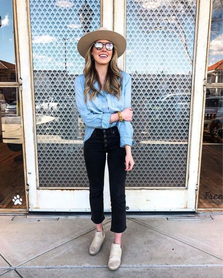 BEST denim shirt ever! I've owned this one for about 3 years and it's so soft and well made. You can get 15% off entire #BellaDahl website with my code MEREDITH15   #LTKsalealert #LTKHoliday #LTKGiftGuide