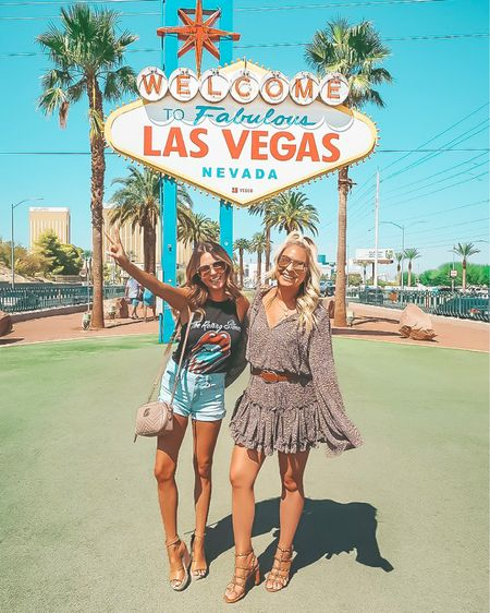 My 4th time in Vegas and finally made it to this sign! 📸 Had a blast last week with the girls but it's back to the grind! 👊🏻 I shot a fun Fall feature this morning and have my hair extensions post hitting the blog this week, so stay tuned for some exciting content! And lots more Vegas pics 😉 Shop my our looks with a screenshot or follow us in the LIKEtoKNOW.it app!  - - -  http://liketk.it/2EZZ0 @liketoknow.it #liketkit #LTKtravel #LTKunder100 #LTKunder50 #LTKsalealert #LTKshoecrush #LTKitbag