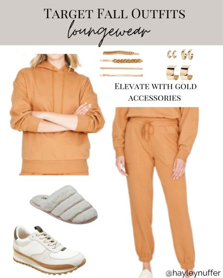 Loungewear styled  Add gold accessories to elevate the look!  #LTKstyletip #LTKunder50 #LTKSeasonal