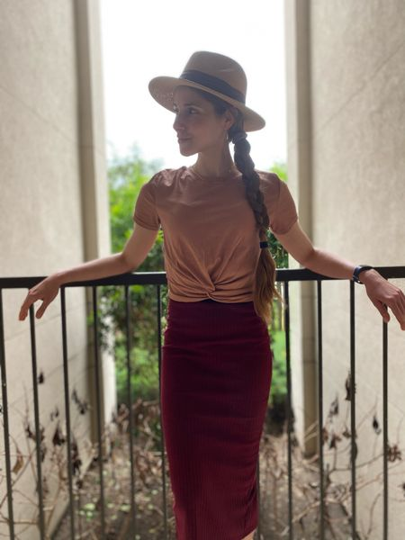 Love this Shein skirt, size XS, for airport travel.   #LTKSeasonal #LTKtravel #LTKunder50