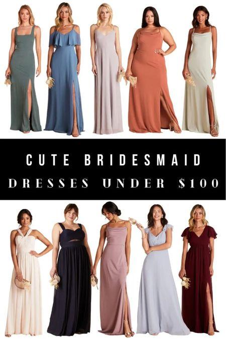 Cute bridesmaids dresses under $100. Adorable bridal gowns.   #LTKwedding #LTKfamily #LTKunder100