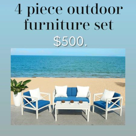 Patio outdoor furniture set with pillows for $500. At Walmart #liketkit @liketoknow.it http://liketk.it/3gPd4   #LTKhome #LTKstyletip #LTKfamily
