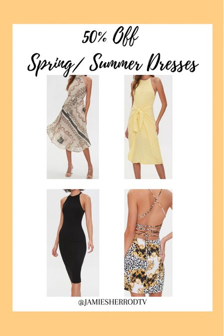 50% Off Spring/Summer Dresses ☀️ 👗   #LTKsalealert #LTKSeasonal #LTKunder50