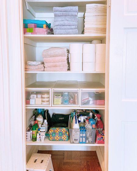 Switching it up with a linen closet . . . .  http://liketk.it/2UjxZ #liketkit @liketoknow.it #StayHomeWithLTK #LTKhome   #organize #organization #homeorganization #linens #linencloset #closet #beauty #bath #bathroom #storage #towels #sheets #workout