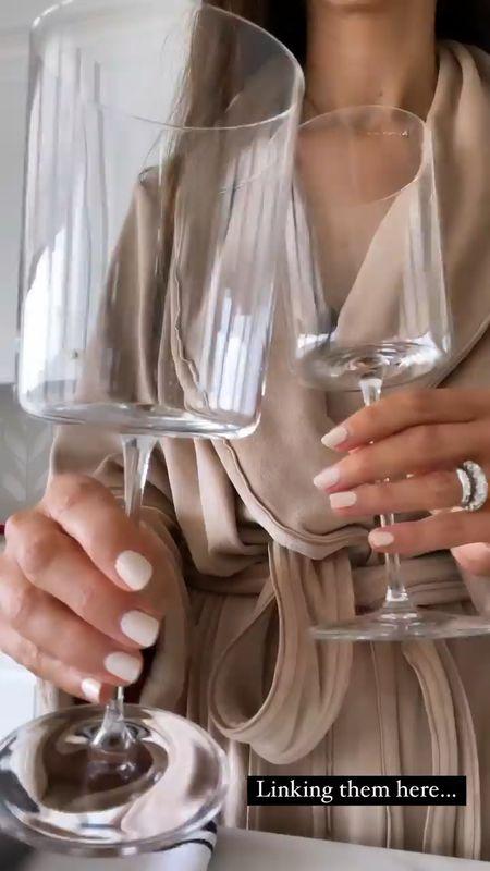 Wine glasses, linking similar options, bar cart, kitchen accessories, StylinByAylinHome   #LTKhome #LTKunder50 #LTKunder100