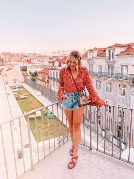 I snagged this bodysuit off a clearance rack at a small town boutique but it's very similar to an orange free people body suit! Linking the similar option here along with the rest of my 'fit!   #LTKtravel #LTKeurope