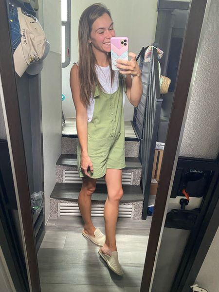 I think I'm sold on linen. This olive romper is perfect for a little girls afternoon out!   #LTKworkwear #LTKshoecrush #LTKstyletip