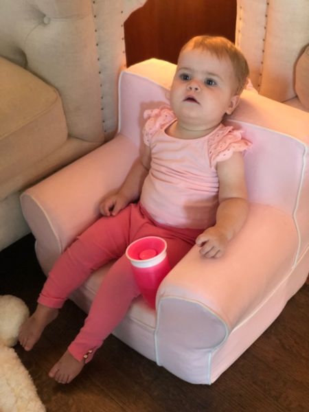 I didn't think Kricket could get anymore pink   #LTKbaby #LTKfamily #LTKkids