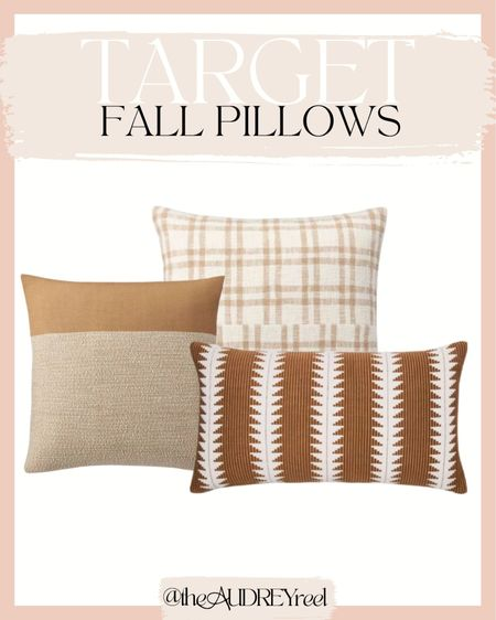 Target Fall pillows decor living room chair couch mustard yellow orange warm threshold studio McGee hearth & home  #LTKhome #LTKunder50 #LTKSeasonal