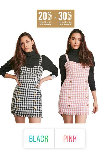 Tweed dress, houndstooth dress   #LTKunder50 #LTKunder100 #LTKsalealert