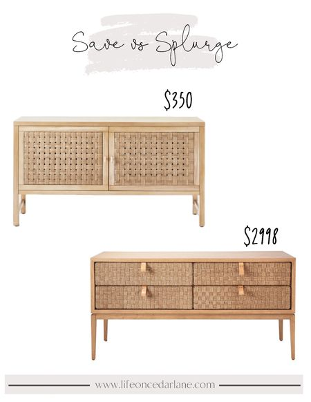 Woven console table save or splurge!! Such pretty options for your living room or entry!!   #consoletable #targetfinds #serenaandlily  #LTKhome