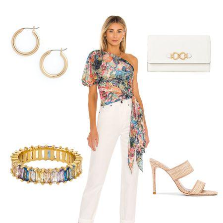 🌈  Top   Amanda Uprichard  Jeans   Agolde  Ring    Clutch    Earrings    Heels      http://liketk.it/3iPkA #liketkit @liketoknow.it #LTKstyletip #LTKitbag #LTKshoecrush