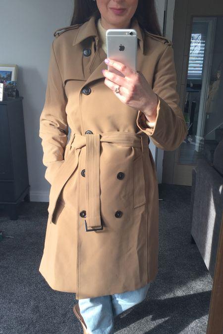 Trench coat, tan trench coat, Spring outfit, spring trends, spring 2021, yellow, yellow jumper, knitwear, spring knitwear, spring transition outfit, H&M, H&M jumper, H&M jeans, knitwear outfit, joggers outfit, lilac outfit, lilac joggers, Lee jeans, Lee H&M http://liketk.it/3b3NB #liketkit @liketoknow.it @liketoknow.it.europe #LTKSpringSale #LTKeurope #LTKunder50
