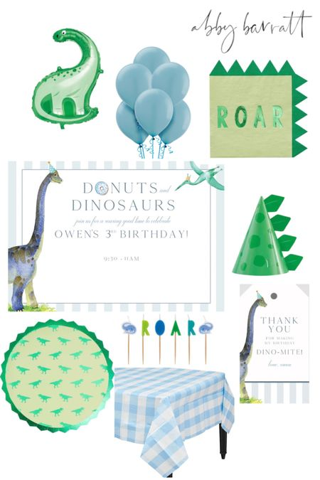 Looking for a cute birthday theme idea? Working on our 3 year olds party now! 🍩 🦕 @liketoknow.it #liketkit #LTKfamily #LTKkids @liketoknow.it.family http://liketk.it/3erSi