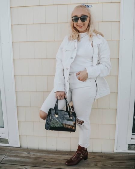 i found some incredible gems while thrifting in north carolina last week, including these boots + purse! sharing how i style thrifted accessories on micheleonel.com. tap for outfit details ✨  jacket: thrifted @hm shirt: thrifted  jeans: @levis boots + purse: thrifted @salvationarmy jewelry: @tiffanys @amazon @jennybird @davidyurman  hair bow: @forever21  shop the post: http://liketk.it/32VPf #liketkit @liketoknow.it