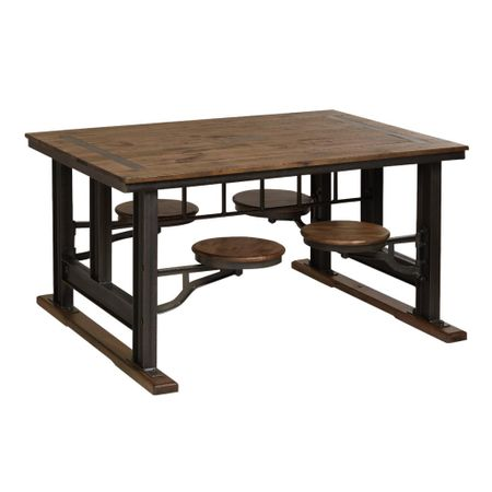 How amazing is this cafeteria table for your kitchen / dining room? Chairs built in therefore also saves space! http://liketk.it/3jydR #liketkit @liketoknow.it #LTKhome #LTKfamily #LTKstyletip @liketoknow.it.home