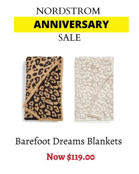 Barefoot dream blankets rarely go on sale. Soft and cozy. The perfect self gift. Nordstrom Anniversary Sale.    #LTKsalealert #LTKhome