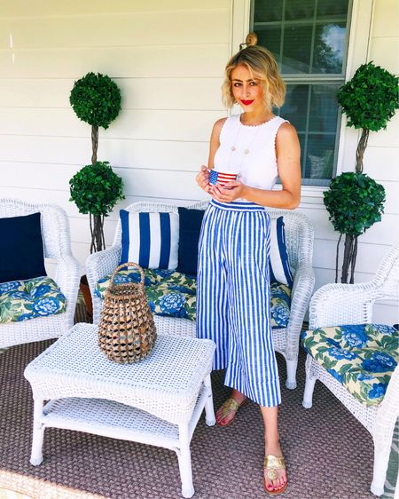 Found a similar pair of striped pants to my old pair! So cute with a white top for summer 💙 #liketkit http://liketk.it/3gPlL @liketoknow.it