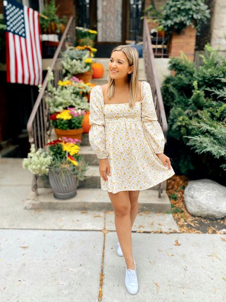 Long sleeve babydoll dress - wearing a size 0!   #LTKSeasonal